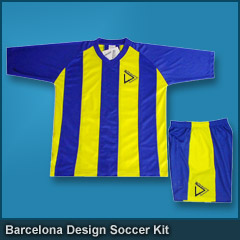 Barcelona Design Soccer Kit