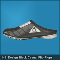 148 Black Casual Flip-Flops