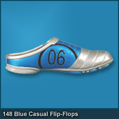 148 #6 Blue Casual Flip-Flops