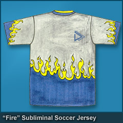 Fire Subliminal Soccer Jersey